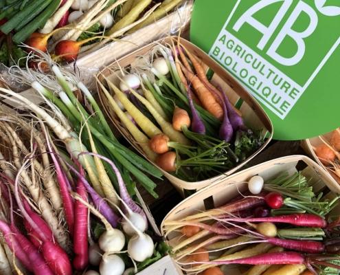 Mini-légumes du jardin d'Eric Roy, issus d'une agriculture biologique